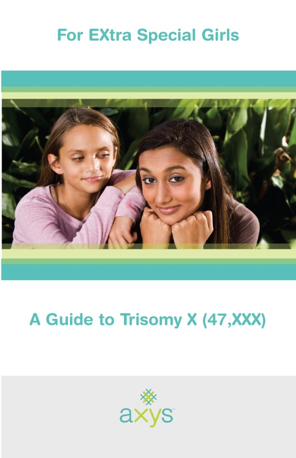 Cover for informational booklet about Trisomy X