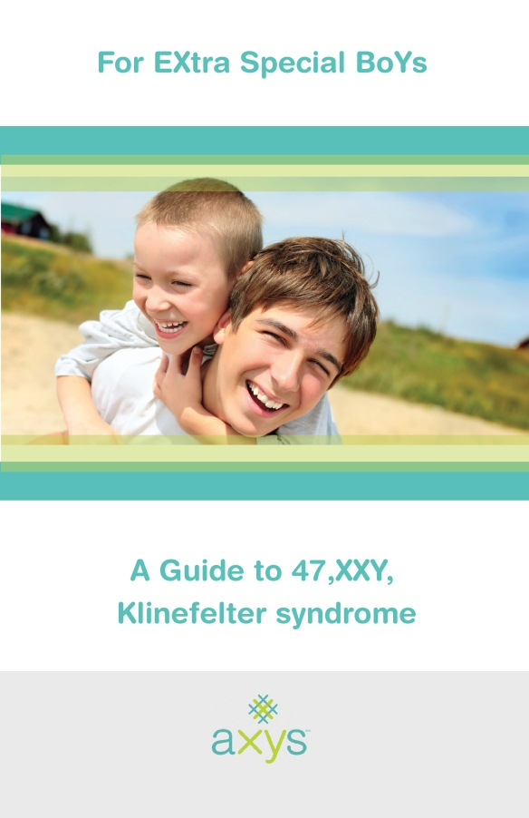 Cover for informational booklet about genetic condition XXY, or Klinefelter syndrome