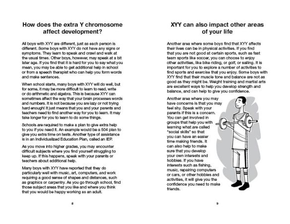 Interior of XYY booklet with cartoon illustration by Harry Briggs