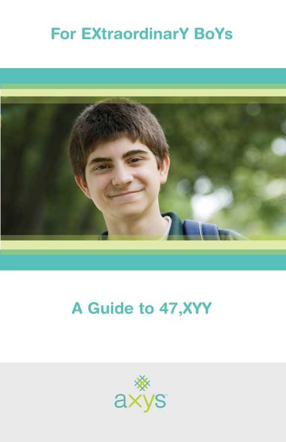 Cover for informational booklet about XXY genetic condition